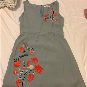 BB Dakota Minty Green Floral Embroidery dress